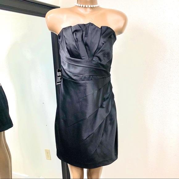 NWT Strapless (or not) Black Midi Dress Sz. 10